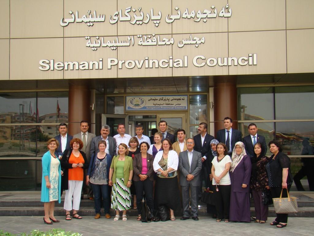 Bei den Stadträten in Slemani, Nordirak